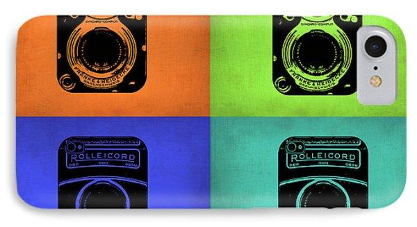 Vintage Camera Pop Art 1 IPhone Case by Naxart Studio