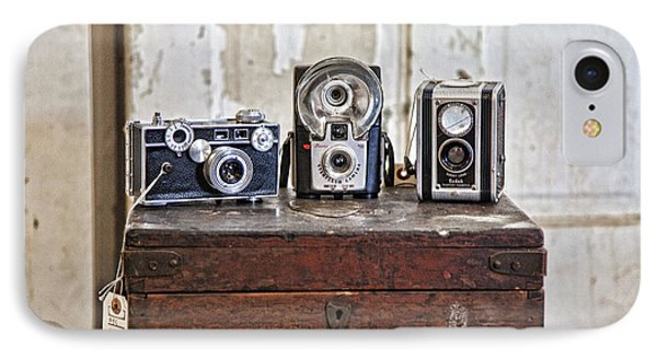 Vintage Cameras At Warehouse 54 Phone Case by Toni Hopper