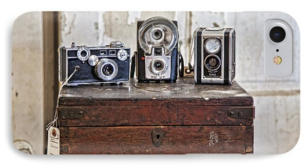Vintage Cameras At Warehouse 54 IPhone Case by Toni Hopper