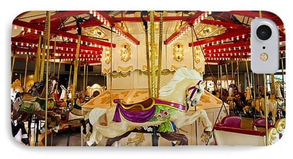 IPhone Case featuring the photograph Vintage Carousel by Maria Janicki