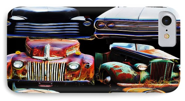 Vintage Cars Collage 2 IPhone Case by Cathy Anderson