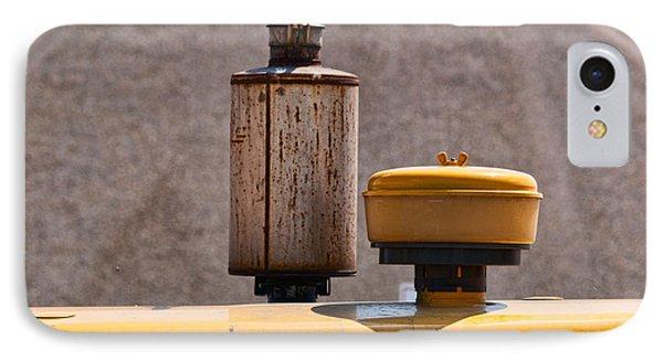Vintage Caterpillar Machine Phone Case by Les Palenik