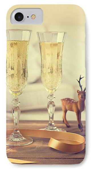 Vintage Champagne IPhone Case by Amanda Elwell