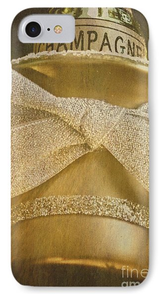 Vintage Champagne Ornament IPhone Case by Birgit Tyrrell
