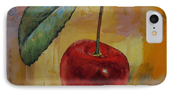 Vintage Cherry IPhone Case by Michael Creese