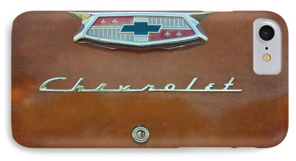 Vintage Chevrolet Emblem On Trunk IPhone Case by Cat Whipple