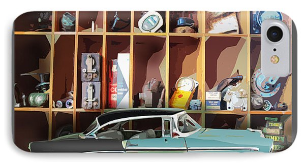 Vintage Chevy Belair With Retro Auto Parts IPhone Case