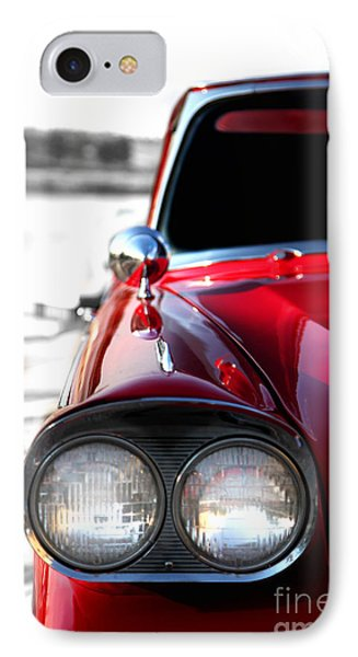 Vintage Chevy Red Phone Case by Jennifer Mecca