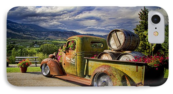 Vintage Chevy Truck At Oliver Twist Winery Phone Case by David Smith
