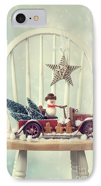 Vintage Christmas Truck IPhone Case