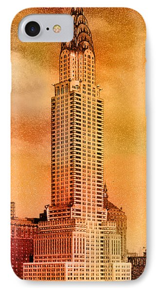 Chrysler Building iPhone 7 Case - Vintage Chrysler Building by Andrew Fare