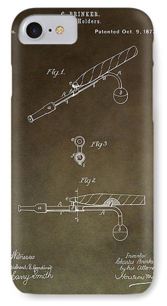 Vintage Cigar Holder Patent IPhone Case
