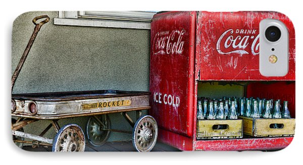 Vintage Coca-cola And Rocket Wagon Phone Case by Paul Ward