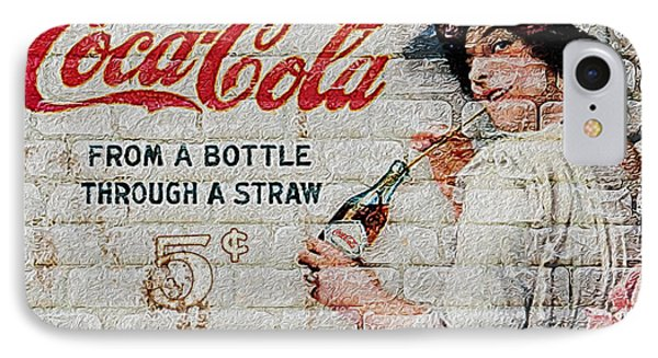 Vintage Coke Sign Phone Case by Jack Zulli