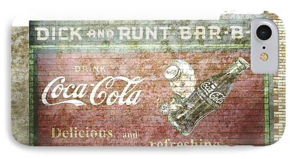 Vintage Cola Sign Mural II Phone Case by Ann Powell