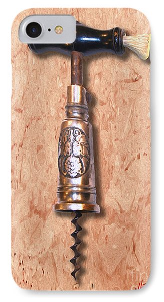 German Perpetual Barrel Corkscrew Painting IPhone Case by Jon Neidert