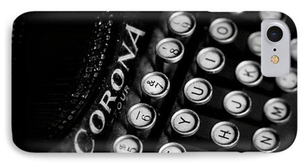 Vintage Corona Four Typewriter IPhone Case by Jon Woodhams