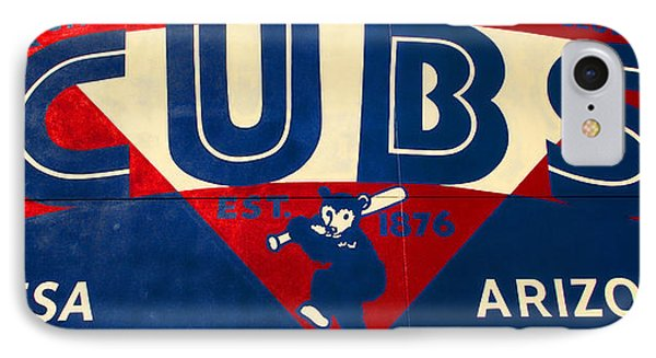 Vintage Cubs Spring Training Sign IPhone Case by Stephen Stookey