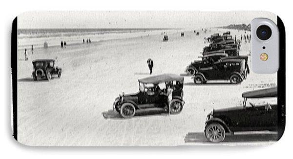 Vintage Daytona Beach Florida Phone Case by Edward Fielding