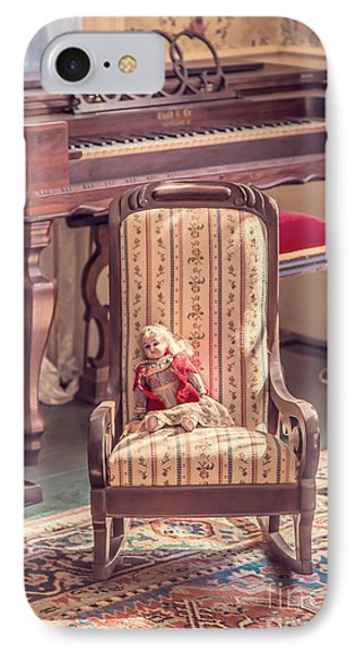 Vintage Doll In Parlor Phone Case by Edward Fielding