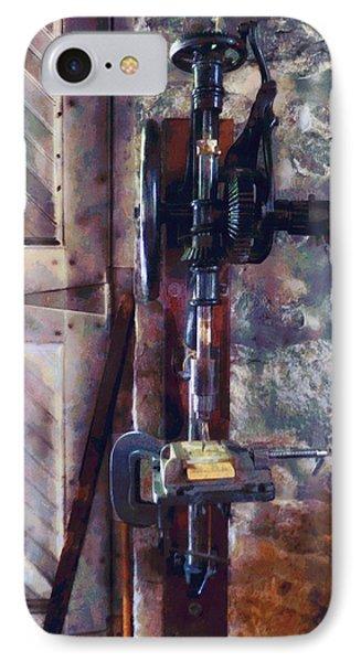 Vintage Drill Press Phone Case by Susan Savad