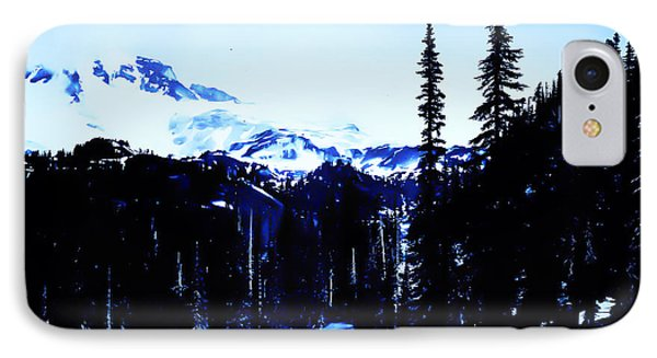 Vintage... Driving Up To Mount Rainier Early 1900 Era... IPhone Case by Eddie Eastwood