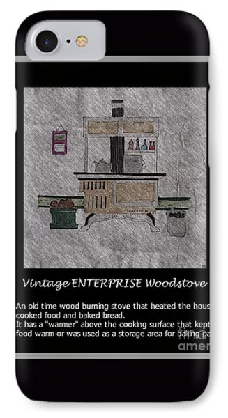 Vintage Enterprise Woodstove Phone Case by Barbara Griffin