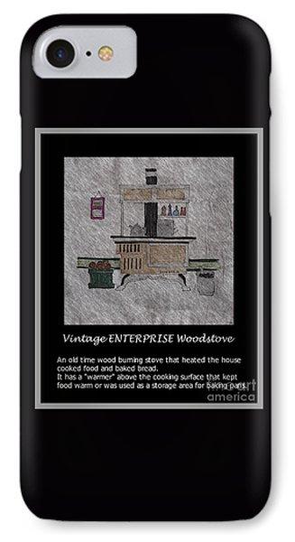 Vintage Enterprise Woodstove IPhone Case by Barbara Griffin