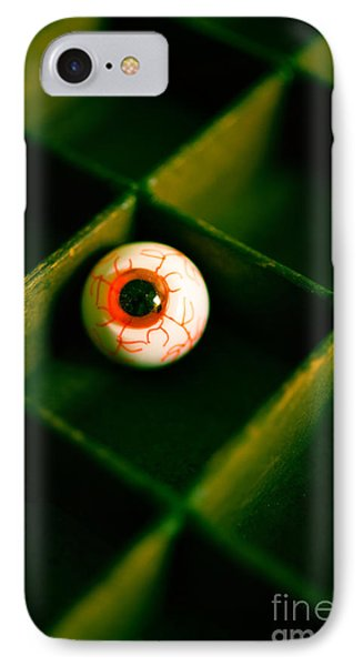 Vintage Fake Eyeball IPhone Case by Edward Fielding