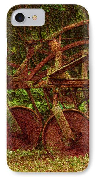Vintage Farm Equipment IPhone Case by Jack Zulli