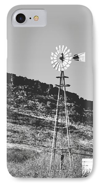 Vintage Farm Windmill IPhone Case by Christine Till