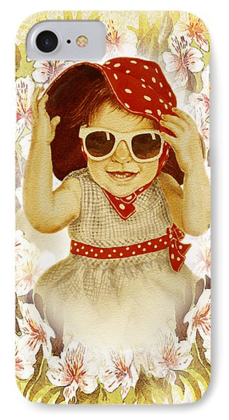 Vintage Fashion Girl IPhone Case by Irina Sztukowski