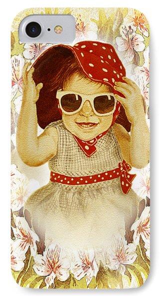 IPhone Case featuring the painting Vintage Fashion Girl by Irina Sztukowski