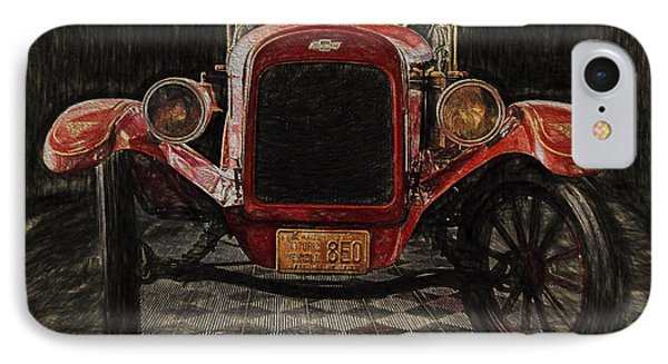 Vintage Fire Truck  ... IPhone Case by Chuck Caramella