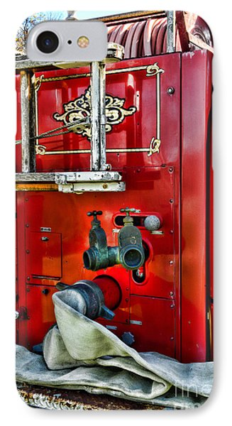 Vintage Fire Truck IPhone Case by Paul Ward