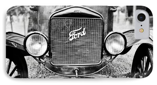 Vintage Ford In Black And White IPhone Case by Colleen Kammerer