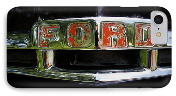 Vintage Ford IPhone Case by Laurie Perry