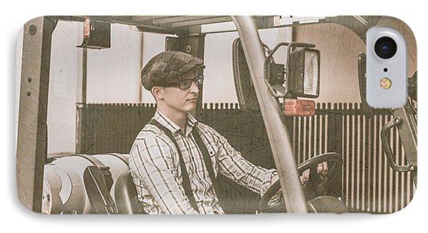 Vintage Forklift Driver IPhone Case