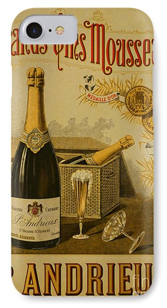 Vintage French Poster Andrieux Wine IPhone Case by Olivier Le Queinec