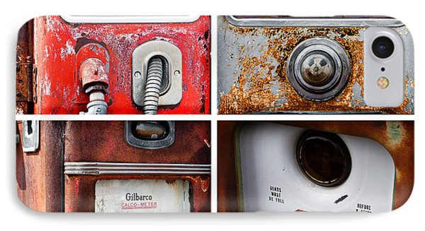 Vintage Fuel Pumps Collage IPhone Case