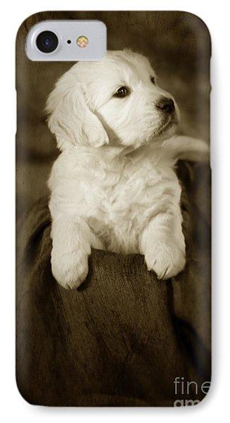 Vintage Golden Retriever Pup Phone Case by Angel  Tarantella