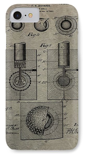 Vintage Golf Ball Patent IPhone Case