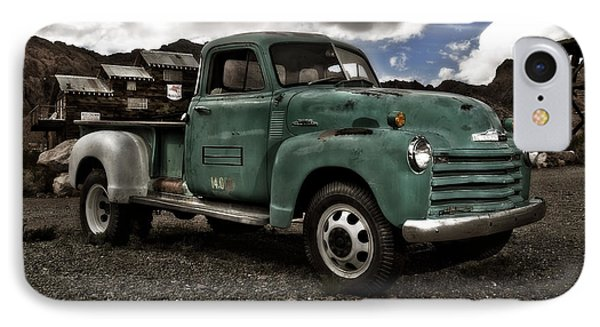 Vintage Green Chevrolet Truck Phone Case by Gianfranco Weiss