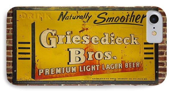 Vintage Griesedieck Bros Beer Dsc07192 IPhone Case by Greg Kluempers