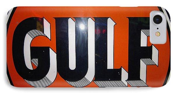 Vintage Gulf Garage Sign IPhone Case by Marvin Blaine
