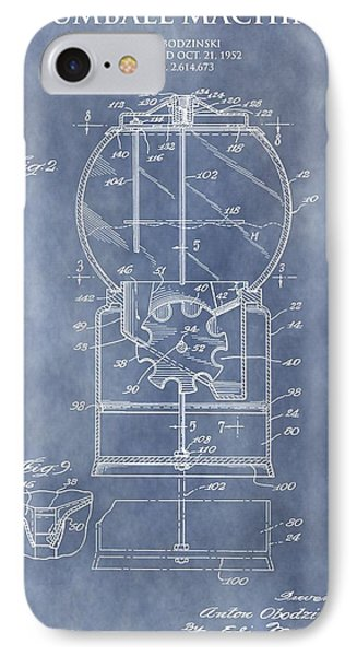 Vintage Gumball Machine Patent IPhone Case by Dan Sproul