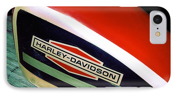 Vintage Harley Davidson Gas Tank IPhone Case by Beverly Stapleton