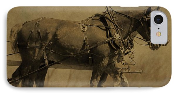 Vintage Horse Plow IPhone Case by Dan Sproul