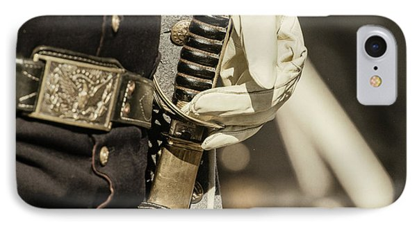 Vintage Image Of Soldier With Civil War IPhone Case
