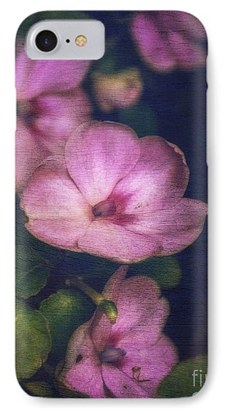 Vintage Impatiens IPhone Case by Debra Fedchin